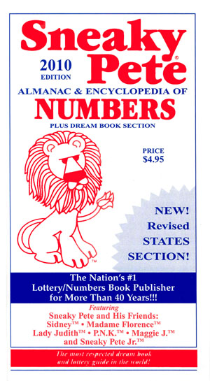 2018 Dream Books : Sneaky Pete!, Your #1 Source of Lucky Lottery