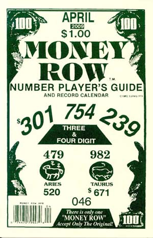 Money Row : Sneaky Pete!, Your #1 Source of Lucky Lottery